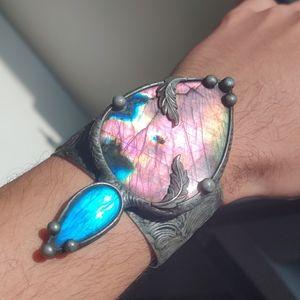 Jewelry - Large Labradorite Cuff